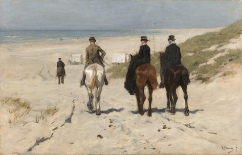 Morning ride on the beach (oil on canvas) Anton Mauve 1876 Collection and picture Rijksmuseum, Amsterdam