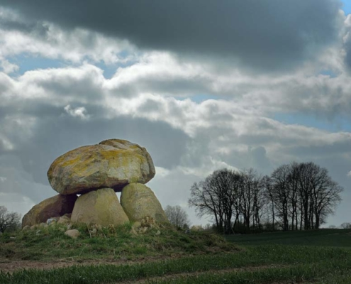 Megalithic grave (Dolmen), Schleswig-Holstein Germany. Neolithic. Photo J.R. Beuker.